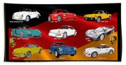 Porsche Times Nine Beach Towel