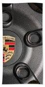 Porsche Vorsteiner Wheel Logo Beach Towel
