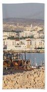 Port Of Agadir Morocco Beach Towel