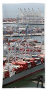 Port Of Long Beach Beach Towel