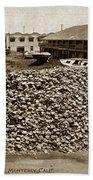 Porter Bro's. Pioneer Preparers Of Abalone Steaks. Monterey Circa 1920 Beach Towel