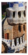 Porter's Lodge Pavilion In Park Guell Beach Towel