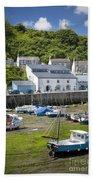 Porthleven Harbor - Low Tide Beach Towel