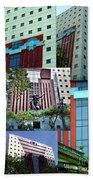 Portland Building Collage Beach Towel
