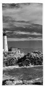 Portland Head Light 19456b Beach Towel