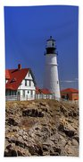 Portland Head Light 3 Beach Towel by Joann Vitali