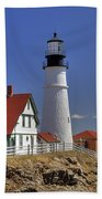 Portland Head Light Beach Towel by Joann Vitali