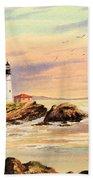 Portland Head Lighthouse Maine Beach Towel