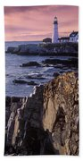 Portland Headlight Maine Beach Towel