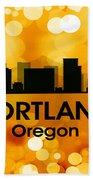 Portland Or 3 Beach Towel