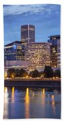 Portland Skyline Pm2 Beach Towel