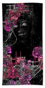 Portrait In Black - S01-02b Beach Towel by Variance Collections