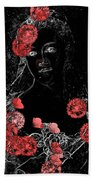 Portrait In Black - S0201b Beach Towel by Variance Collections