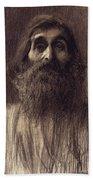 Portrait Of A Bearded Man Beach Towel