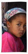 Portrait Of A Berber Girl Beach Towel by Ralph A  Ledergerber-Photography