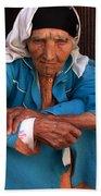 Portrait Of A Berber Woman Beach Towel