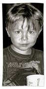 Portrait Of A Boy Beach Towel