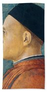 Portrait Of A Man Beach Towel by Andrea Mantegna