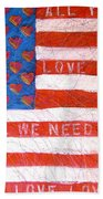 Portrait Of A Tender Land Within My Heart Beach Towel