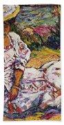 Portrait Of A Woman Beach Towel