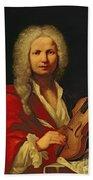 Portrait Of Antonio Vivaldi Beach Towel
