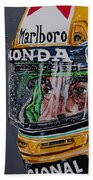 Portrait Of Ayrton Senna Beach Towel