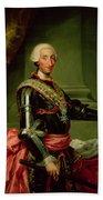 Portrait Of Charles IIi 1716-88 C.1761 Oil On Canvas Beach Towel