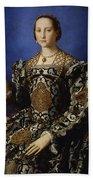 Portrait Of Eleanor Of Toledo With Her Son Giovanni De' Medici Beach Towel