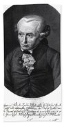 Portrait Of Emmanuel Kant  Beach Sheet