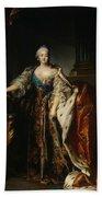 Portrait Of Empress Elizabeth, 1758 Oil On Canvas Beach Towel