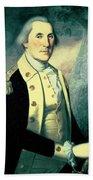 Portrait Of George Washington Beach Towel by James the Elder Peale