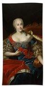 Portrait Of Johanna-elizabeth, Electress Of Anhalt-zerbst, C.1746 Oil On Canvas Beach Towel