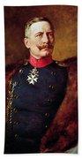 Portrait Of Kaiser Wilhelm II 1859-1941 Beach Towel