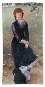 Portrait Of Madame Edouard Pailleron Beach Sheet