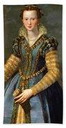 Portrait Of Maria De Medici Or Eleonora Di Garzia Di Toledo Beach Towel