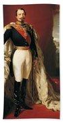 Portrait Of Napoleon IIi Louis Napoleon Bonaparte Beach Towel