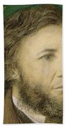 Portrait Of Robert Browning Beach Towel