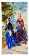 Portrait Of Sisters Shishmarev Beach Towel