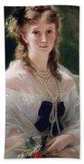 Portrait Of Sophie Troubetskoy  Beach Towel