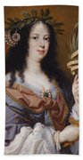 Portrait Of Vittoria Della Rovere As Saint Vittoria Beach Sheet