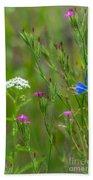 Portrait Of Wildflowers Beach Towel