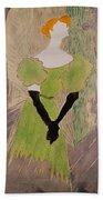Portrait Of Yvette Guilbert Beach Towel