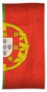 Portugal Flag Vintage Distressed Finish Beach Towel