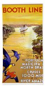 Portugal Vintage Travel Poster Beach Towel