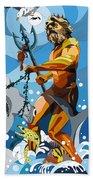 Poseidon - W/hidden Pictures Beach Towel