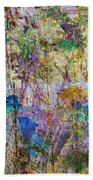 Posies In The Grass Beach Towel