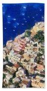 Positano Town In Italy Beach Towel