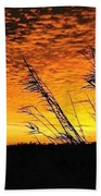 Post Hurricane Rita Clouds At Dockside In Beaumont Texas Usa Beach Towel