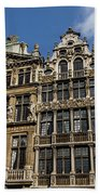 Postcard From Brussels - Grand Place Elegant Facades Beach Towel
