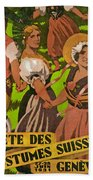 Poster Advertising F?te Des Costumes Beach Towel
